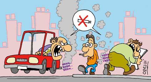 tirando de fumar