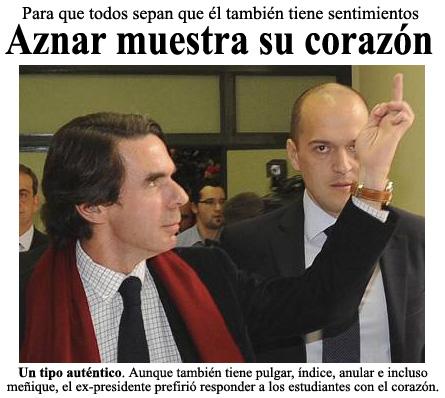 El corazón de Aznar