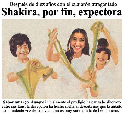 Shakira expectora