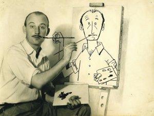 Original autorretrato de Antonio Mingote, en torno a 1955